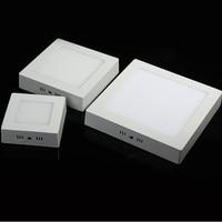 Vierkante Paneel Licht 9 w 15 w 25 w LED Plafondlamp Opbouw AC85-265V Spot Plafond Verlichting Lamp Warm /natuurlijke/Koud Wit