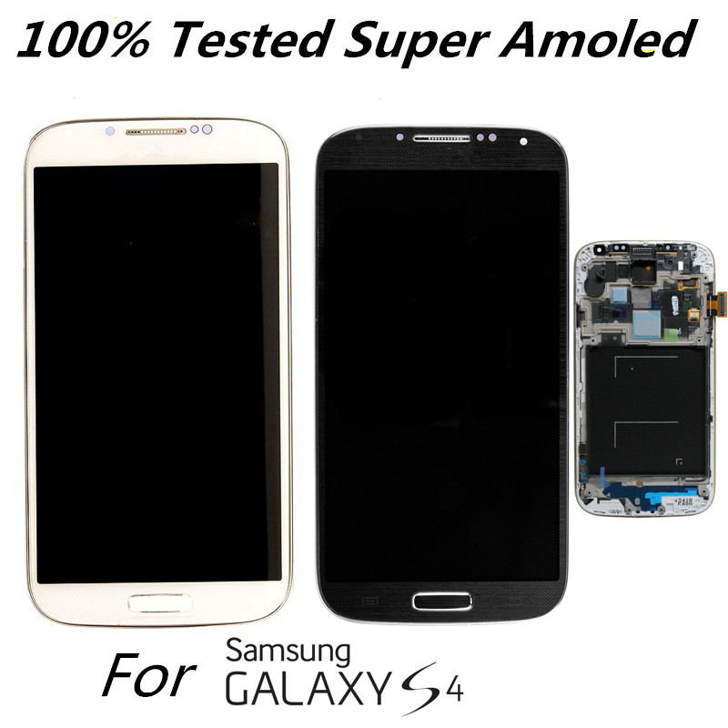 Super Amoled Original LCD Display for Samsung Galaxy S4 I9500 I9505 I337 I9506 Replacement LCD Sscreen with frame 100% TestedSuper Amoled Original LCD Display for Samsung Galaxy S4 I9500 I9505 I337 I9506 Replacement LCD Sscreen with frame 100% Tested