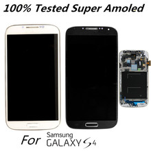 Super Amoled Original LCD Display for Samsung Galaxy S4 I9500 I9505 I337 I9506 Replacement LCD Sscreen with frame 100% Tested