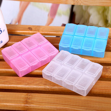 YYW 2017 8 Cells Pill Box Plastic Tool Box Case Jewelry Rings Craft Organizer Storage Beads tiny stuff Containers