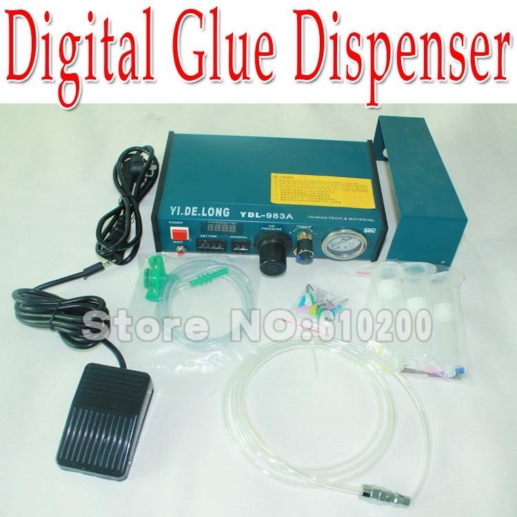 YDL-983A Professional Precise Digital Auto Glue Dispenser Solder Paste Liquid Controller Dropper 220V 1 set auto glue dispenser solder paste liquid controller dropper ydl 983a dispensing system 110v