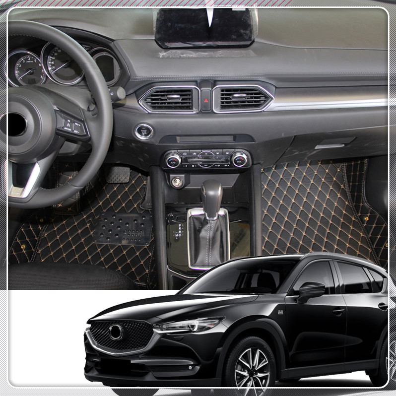 For Mazda CX-3 2015 2016 2017 2018 Customs Car Floor Mat Leather Front & Rear Floor Mats Foot Carpets Pads Auto accessories for mazda cx 5 cx5 2nd gen 2017 2018 interior custom car styling waterproof full set trunk cargo liner mats tray protector