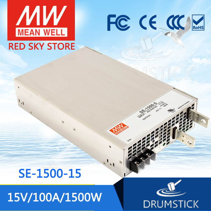 Selling Hot MEAN WELL SE-1500-15 15V 100A meanwell SE-1500 15V 1500W Single Output Power Supply best selling mean well se 200 15 15v 14a meanwell se 200 15v 210w single output switching power supply