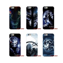 For iPhone X XR XS MAX 4 4S 5 5S 5C SE 6 6S 7 8 Plus Alien vs Predator Accessories Phone Cases Covers(China)
