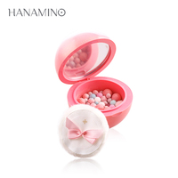 HANAMINO 4 Colors Brand New Makeup Baked Blush With Puff Natural Highlighter Palette Petal Face Powder Baking Cheek Blusher