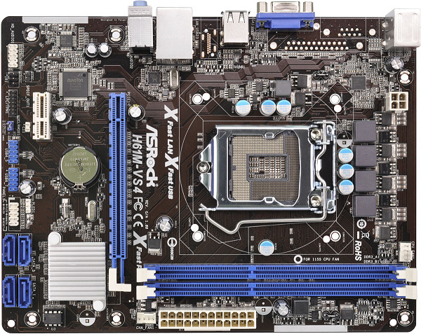 Used, 100% original motherboard for ASRock H61M-VS4 LGA 1155 DDR3 RAM 16G Integrated graphics Motherboard free shipping 100% original motherboard for asrock h61m vs3 lga 1155 ddr3 ram 16g integrated graphics motherboard