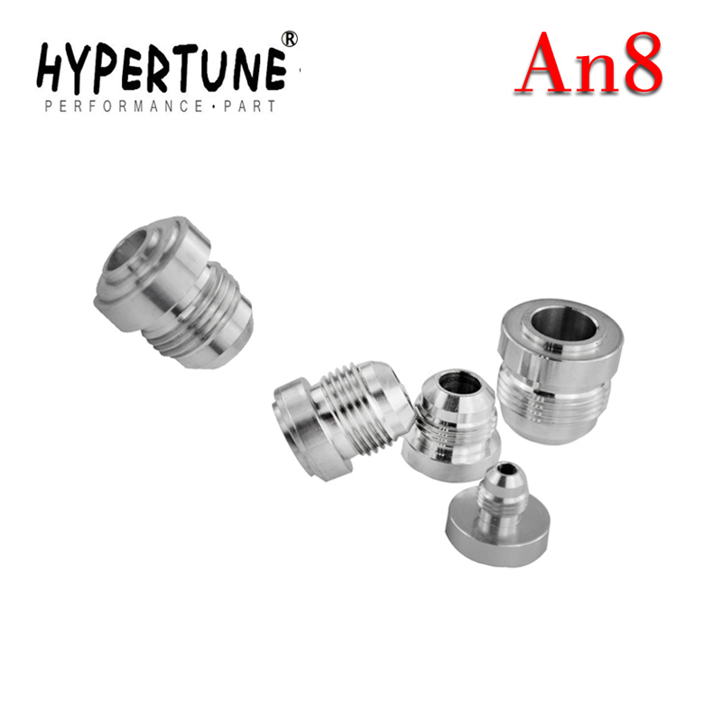 Bright Hypertune 4pcs/pack Top Quality Aluminum An8-an Straight Male Weld Fitting Adapter Weld Bung Nitrous Hose Fitting Silver Fuel Supply & Treatment Auto Replacement Parts