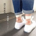 Estilo japonés Lindo Viento Colegio de Moda de Verano Patchwork Calcetines Femeninos Ocasionales