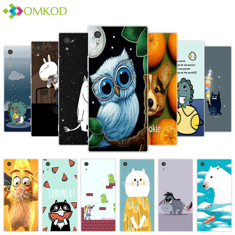 For Sony Xperia XA1 Ultra 6.0 inch Soft Clear Silicone Fundas For Sony Xperia XA1 Ultra for XA1 Ultra Cute Hippo Phone Cases