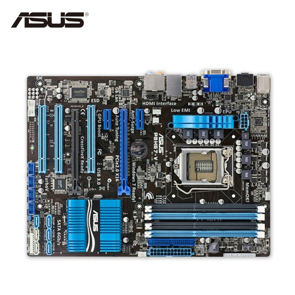 Asus P8H67-V Original Used Desktop Motherboard H67 Socket LGA 1155 i3 i5 i7 DDR3 32G ATX asus original motherboard h67h2 ad lga 1155 ddr3 h67 motherboard micro atx desktop motherboard