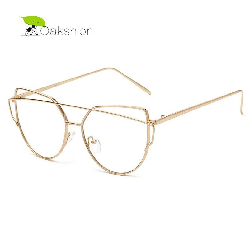 2018 Clear Lens Sunglasses Gold Pink Metal Frame Fashion Trendy Women Glasses Vintage Casual Unique Designer Anti-blue Light Women's Sunglasses