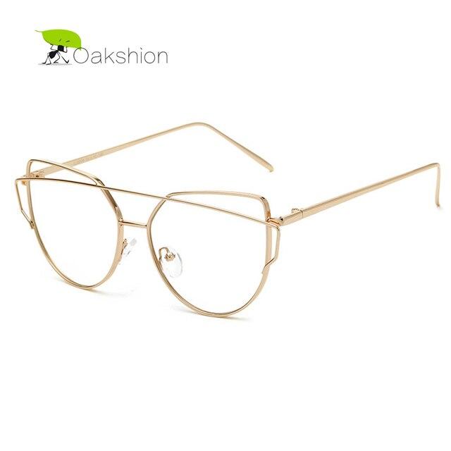 60f97dfb208 2018 Clear Lens Sunglasses Gold Pink Metal Frame Fashion Trendy Women Glasses  Vintage Casual Unique Designer Anti-blue Light
