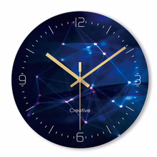 Wall clock Minimalist quartz watch flower multicolour Clocks Home Decoration Living Room Silent 12 inch