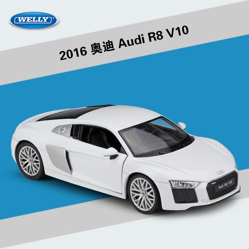 1:24 WELLY Simulator Classic Metal Audi R8 Alloy Diecast Car Model Car Toy Iron Mans Car For Children Birthday Gifts Collection1:24 WELLY Simulator Classic Metal Audi R8 Alloy Diecast Car Model Car Toy Iron Mans Car For Children Birthday Gifts Collection