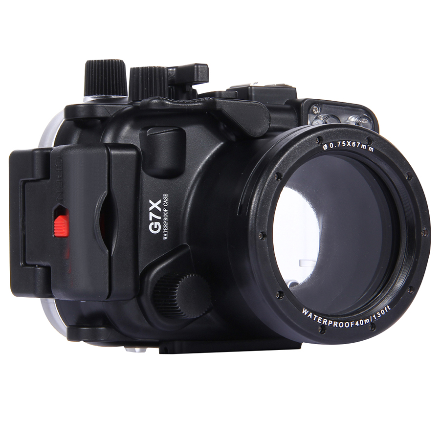 40m 130ft Depth Underwater Swimming Diving Case Waterproof Camera Bag Housing case for Canon G7X Mark II G7 X G7X II, DHL free цена