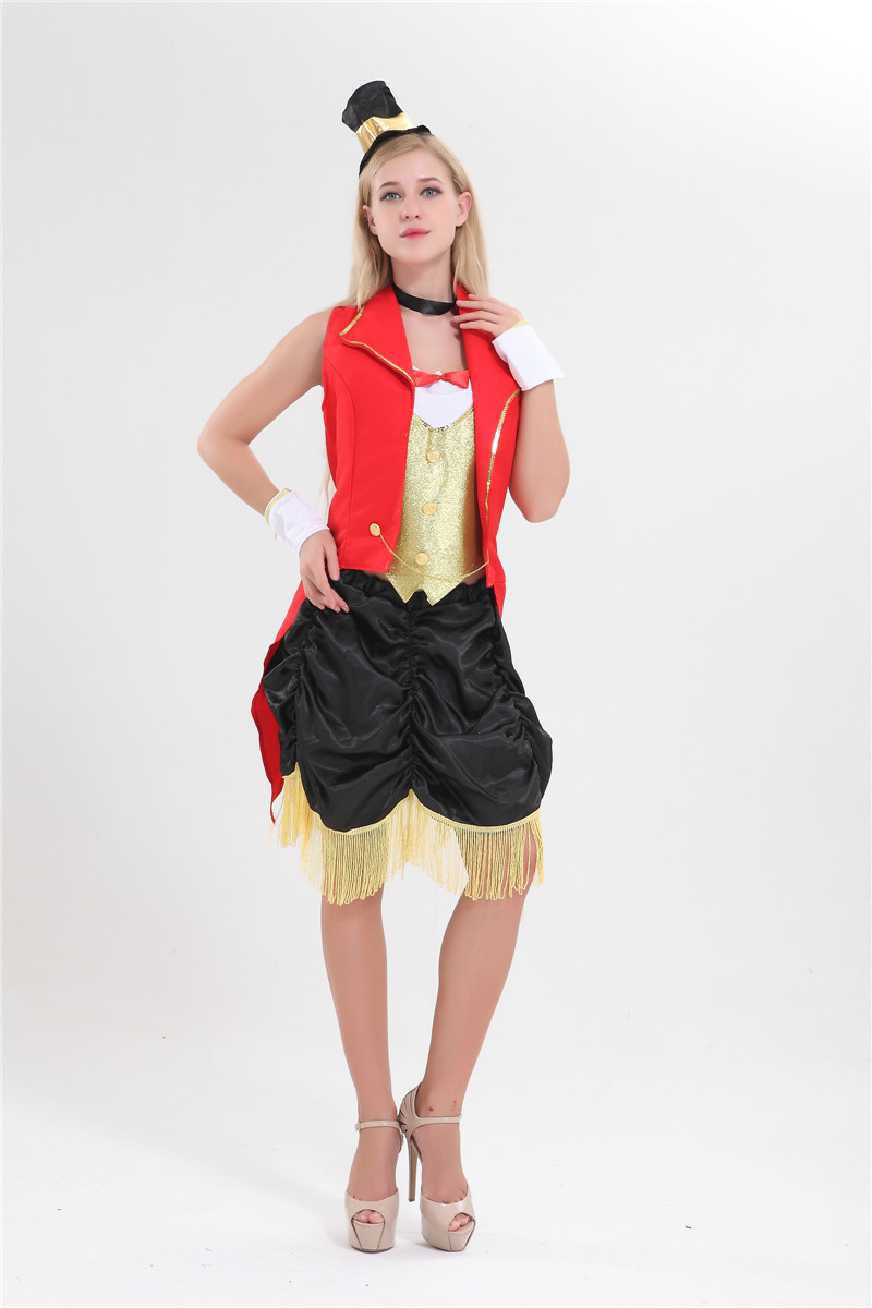 free shipping circus lion tamer ringmaster costume showgirl fancy
