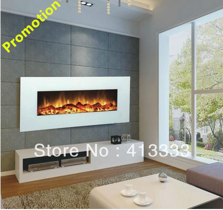 Free Shipping To Canada 110v White Wall Mounted Led Electric Fireplace