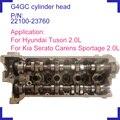 G4GC бензиновый двигатель полный цилиндр головки в сборе 22100-23760 2210023760 22100 23760 для Hyundai Tuson 2.0L 1975cc 16V 2003-