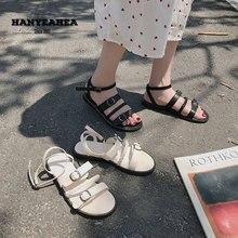 Open Toe Sandalias De Verano Para Mujer Fashion Leisure Flat Sandals Concise Neutral