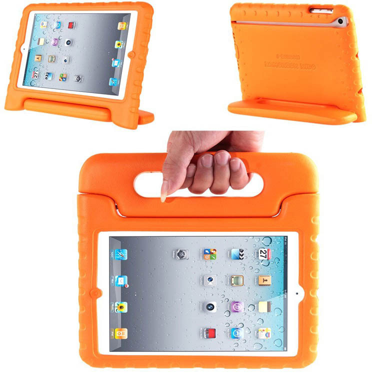 Orange Kidbox Series Multi Function Light Weight Shock Proof Handle Kids Case with Stand / Handle for Apple iPad Air /for iPad 5