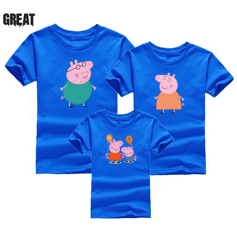 f1065d73 2019 Family wear page cartoon print T shirt fashion new summer short  sleeved round neck T shirt clothes custom color T shirt-in Matching Family  Outfits from ...