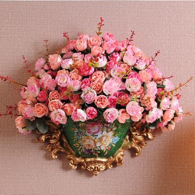 American style resin vase porcelain hanging on the wall wedding house decoration supplies