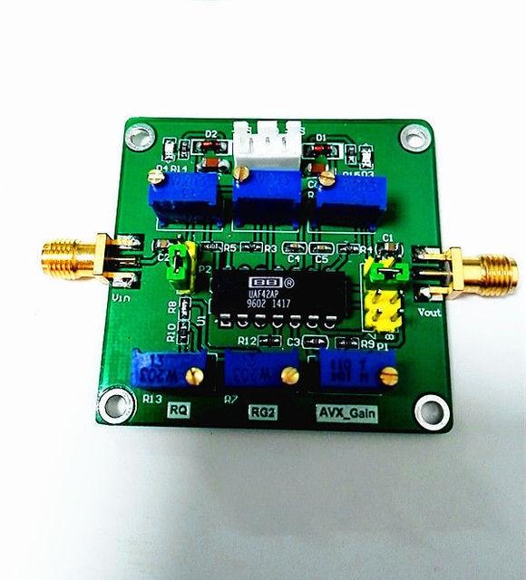UAF42 פעיל מסנן מתכוונן Highpass/Lowpass/Bandpass סינון לוח ש ערך מודול לשינקין רדיו מגבר