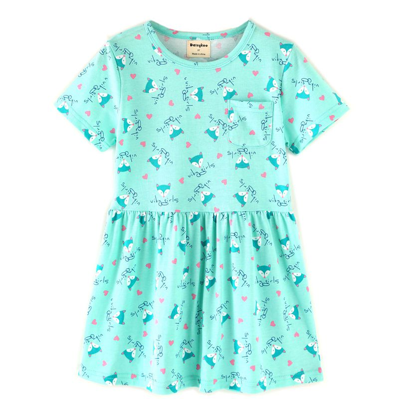 2018 Baby Girl Dress Summer Unicorn Costume for Kids Clothing Brand Children Party Dresses Cute Dog Girls Clothes Princess Dress