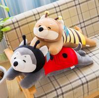 1pc 70cm cartoon Huskie dog bee ladybird butterfly coat plush doll pacify head pillow stuffed toy children home decoration gift