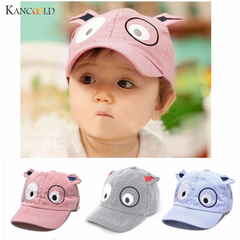 2017 Cartoon Dog Style Baby Hat Boys Girls Toddler Infant Props Kids Infant Sun Hat Soft Brim Baseball Cap Gorras Ma012