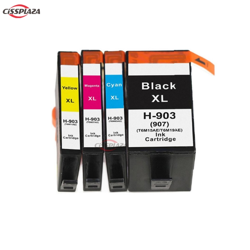 CISSPLAZA NEW 4pcs Ink Cartridge compatible for hp 903 for HP907 XL Officejet Pro 6950 6960