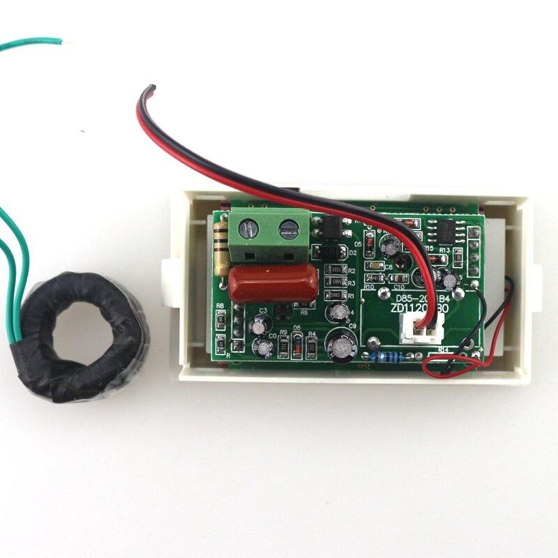 Синий ЖК-цифровой вольтметр переменного тока Амперметр переменного тока 100-300 В 50А/100А вольтметр сила тока в амперах Панель метр