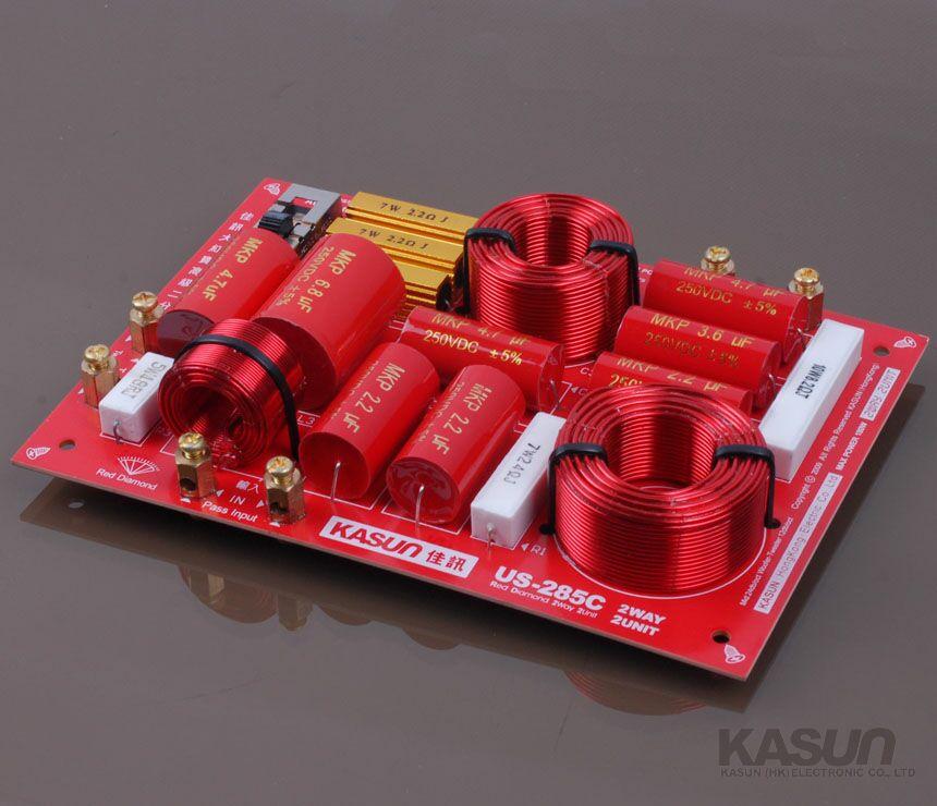 2 шт., двухканальные колонки Kasun, высокое качество, аудио, пересекающиеся частоты, 2850 Гц