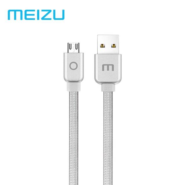 Оригинал Meizu Micro USB кабель из металла 2A быстрой зарядки нейлоновая оплетка 1,2 м для Meizu M6 Примечание samsung Xiaomi Tablet телефонах Android