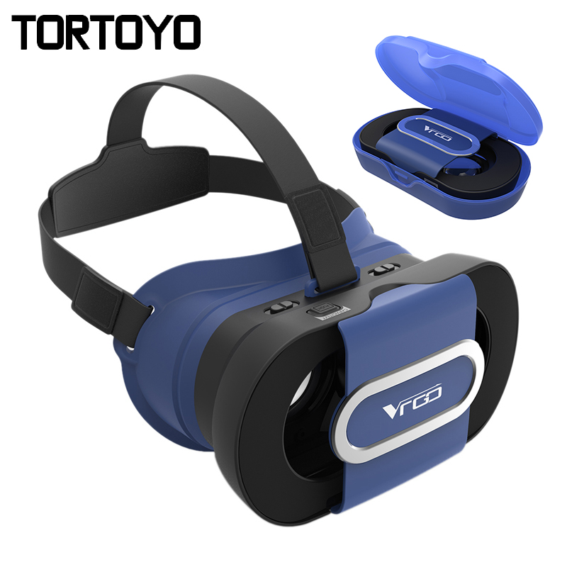 Foldable VR Go 3D Glasses Google Cardboard Virtual Reality Folding 3D VR Case Box for iPhone Samsung Huawei Xiaomi 4.0-6.0 inch
