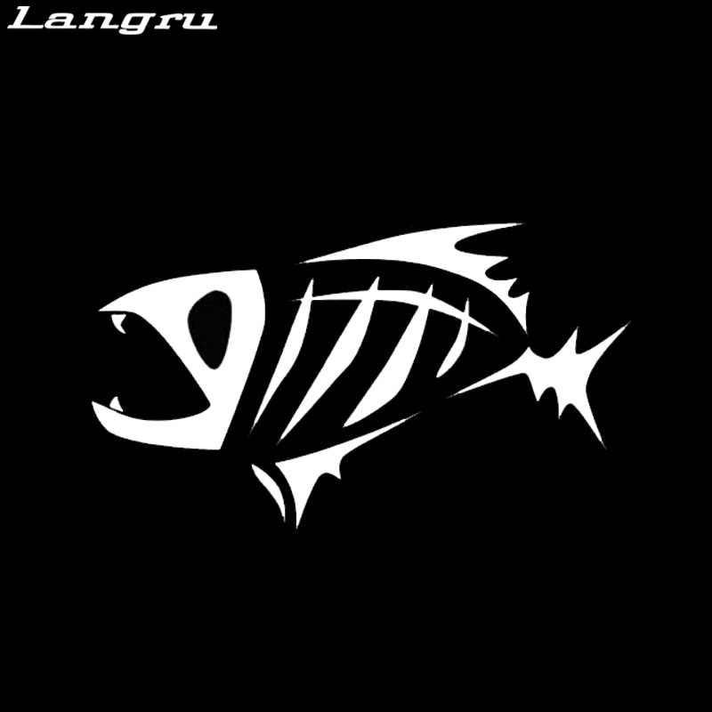 Langru Skeloton אישיות מדבקת מדבקה שבטית דגי דיג סירת רכב משאית Man גיא דקורטיבי Jdm
