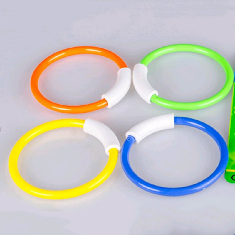 Child Water Toys Dive Ring Dive Accessories Underwater Swimming Pool Buoys 4 Loaded Playing Toys 4 Pcs/Pack