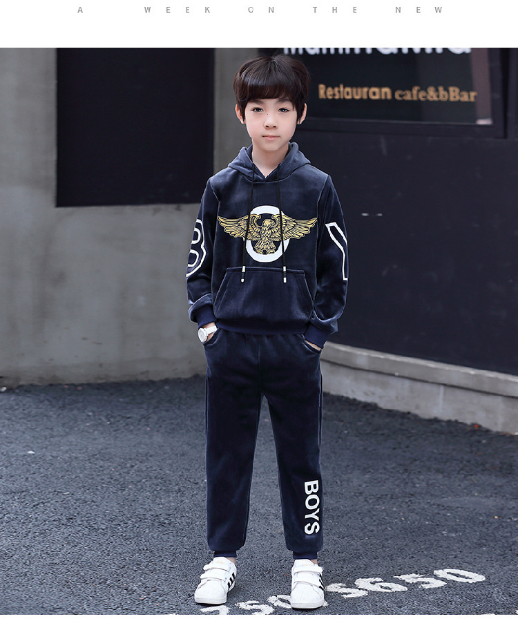New fashion velvet boys clothes sport suit casual boys clothing sets 2019  winter children clothing set kids tracksuit clothesNew fashion velvet boys clothes sport suit casual boys clothing sets 2019  winter children clothing set kids tracksuit clothes