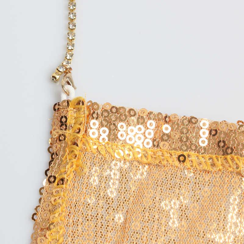 Beforw vestido de lantejoulas das mulheres sexy vestidos de festa noite clube vestido de metal corrente diamante estilingue roupas ouro prata super sexy vestido