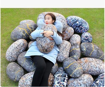 Креативная имитация каменной подушки плюшевые подушки в форме игрушек Подушка Природа Стиль задняя подушка напольный коврик