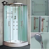 Free Shipping 700mm Shower Cubicle Non Steam Enclosure Bath Room Cabin Corner Cubicle Shower Cabin Luxury