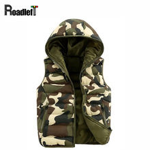 Mens women Spring Autumn clothing fashion casual vest Men camouflage vests Men Down sleeveless jacket waistcoat
