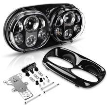 Dla Road Glide motocykl reflektor 90 W podwójny 5.75 doprowadziły reflektor dla Road Glide 2004 2013 DOT zatwierdzony