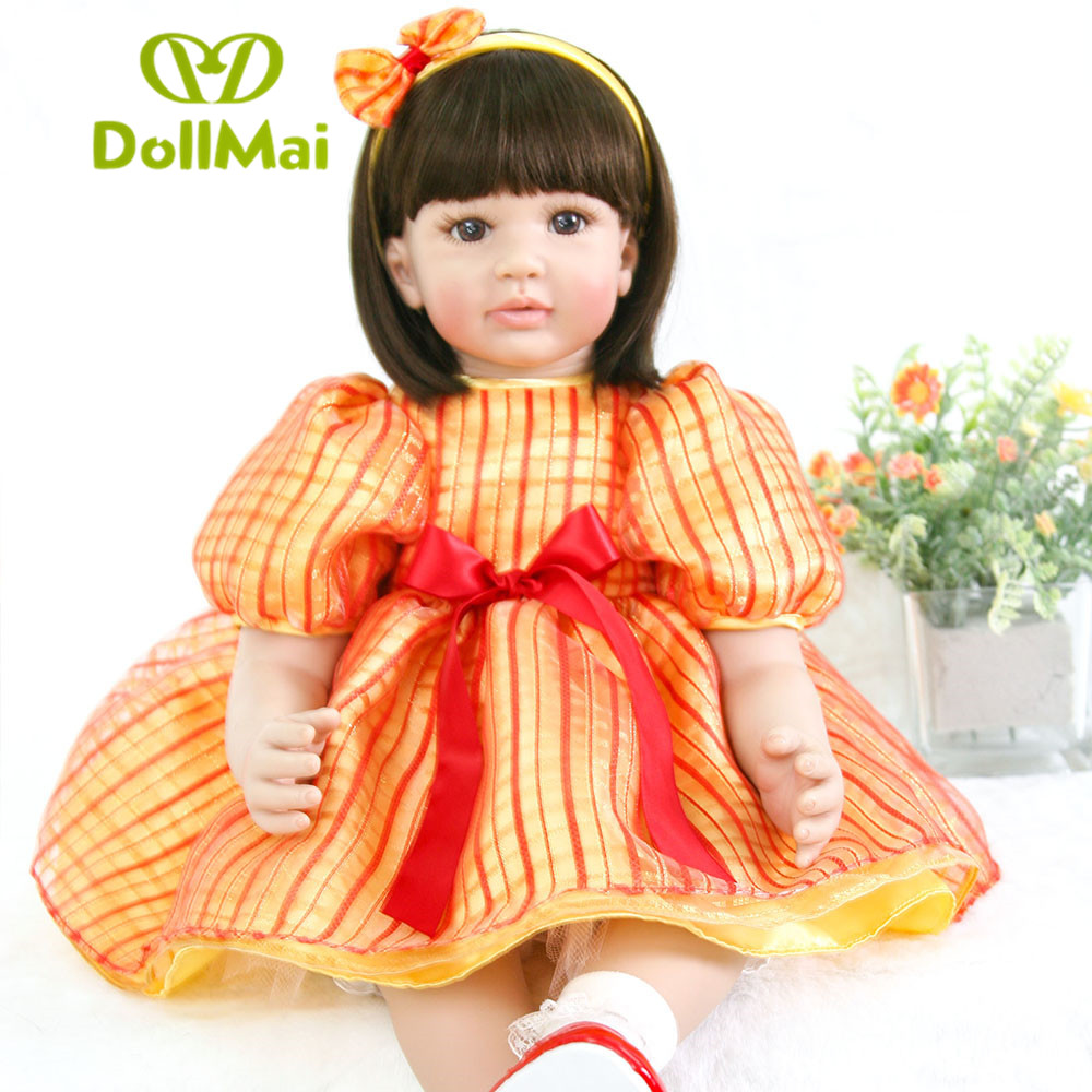 Bebe toddler reborn girl dolls 2460cm silicone reborn baby dolls vinyl princess real babydoll for children gift bonecas Bebe toddler reborn girl dolls 2460cm silicone reborn baby dolls vinyl princess real babydoll for children gift bonecas