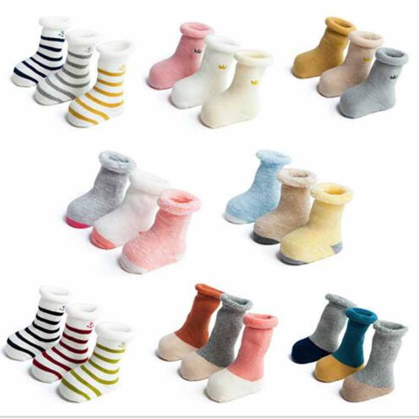 0c4d2414af1 3 Paris Pack New 2016 Baby Terry Sock Boys Girls Infant Winter Warm Children  Clothing Accessories