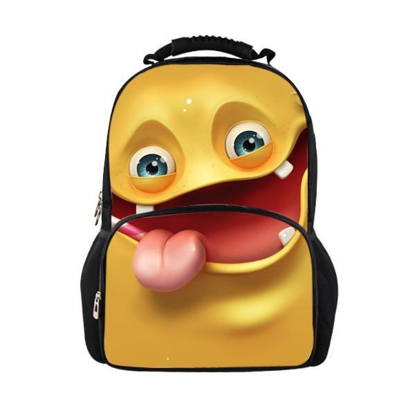 Brand Fashion Boys Backpacks Funny Monster Print Children School Backpack Men s Casual Travel Backpack Bolsas