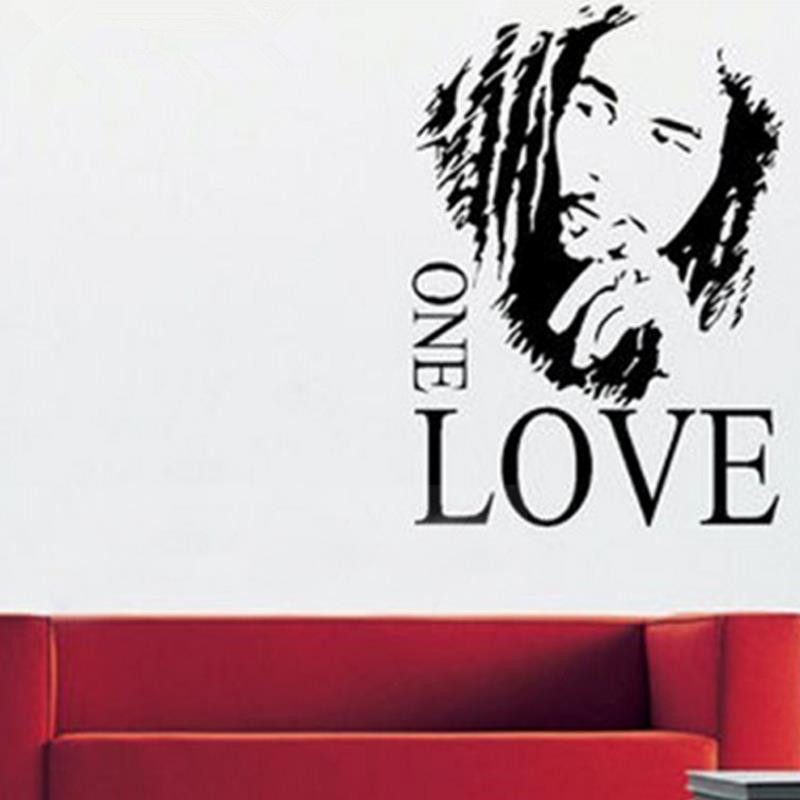 Marvelous Removable BOB MARLEY Post Wall Mural Giant Art Graphic Sticker Decal Matt  Vinyl Home Decor Size 46x65cm BOBu0027S SIGNATURE FOR FREE In Wall Stickers  From Home ... Part 15