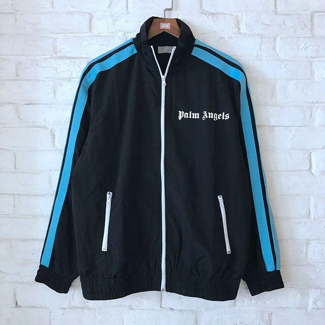 2840dd49945 2018 nueva Palm ángeles chaquetas Hip Hop moda Otoño Invierno cremallera  Palm ángeles chaqueta a rayas. Sitúa el cursor encima para ...