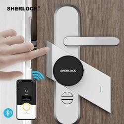 Sherlock S2 Inteligente Keyless do Fechamento Da Impressão Digital + Senha Fechadura Da Porta de Casa Trabalho de Bloqueio Eletr
