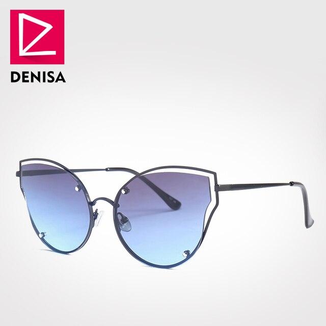 prezzo competitivo 7197d 95cb3 US $7.33 39% OFF|DENISA 2018 Fashion Cat Eye Sunglasses Women UV400 Driving  Steampunk Sun Glasses Brand Designer Vintage Ladies Glasses G18901-in ...